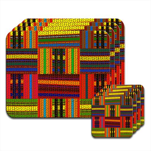 Multi Coloured African Square Modern Wallpaper Hardwood Coasters Placemats Ebay